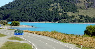 Lago Tekepo NZ Fotografie Stock