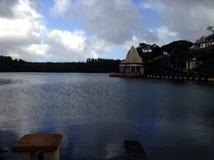 Lago temple Imagem de Stock