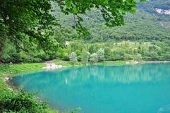 Lago Tenno, Itália Fotografia de Stock Royalty Free
