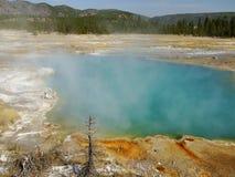 Lago termal azul en Yellowstone Fotos de archivo libres de regalías