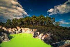 Lago termal en Nueva Zelanda Fotos de archivo libres de regalías