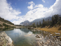Lago Tetons holly, Wyoming EUA Foto de Stock