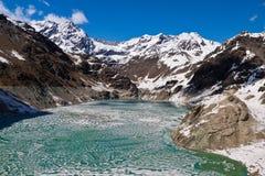 Lago thawing Fotografie Stock