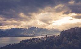 Lago Thun 4 Immagine Stock Libera da Diritti