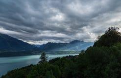 Lago Thun 6 Fotografia Stock Libera da Diritti