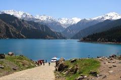 Lago Tianchi (lago) heaven, China Imagem de Stock Royalty Free