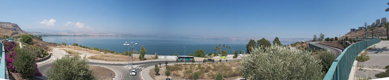 Lago Tiberiade, Israele, Medio Oriente Immagine Stock Libera da Diritti