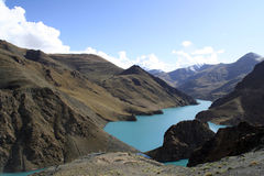 Lago Tibet Yamdrok Immagini Stock