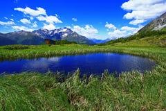 Lago tirolese della montagna Fotografie Stock