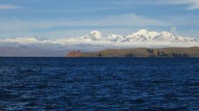 Lago Titicaca bolivia, ilha de Sun Imagem de Stock
