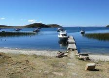 Lago Titicaca en Perú Foto de archivo