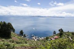 Lago Titicaca nel Perù Immagini Stock
