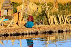Lago Titicaca, Peru imagem de stock