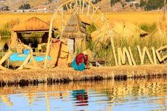 Lago Titicaca, Peru fotografia de stock