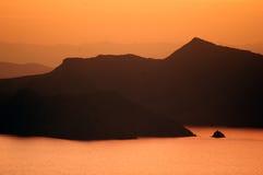 Lago Titicaca sul tramonto #2 fotografie stock libere da diritti