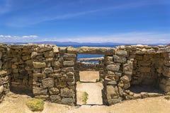 Lago Titikaka e rovine antiche Fotografie Stock
