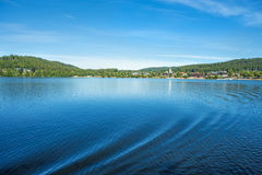 Lago Titisee, Forest Germany preto foto de stock royalty free