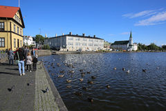 Lago Tjornin Foto de archivo libre de regalías