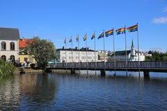 Lago Tjornin Fotografía de archivo