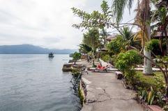 Lago Toba la Sumatra Settentrionale Fotografia Stock Libera da Diritti