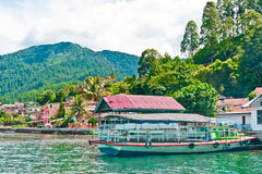 Lago Toba na área de Parapat, Sumatra Foto de Stock Royalty Free