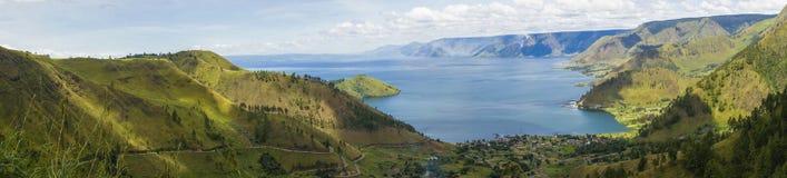 Lago toba o danau toba in Indonesia fotografia stock