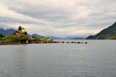 Lago Todos Los Santos, Patagonia, Chile fotos de archivo