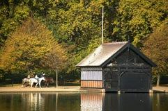 Lago tortuoso a Londra Fotografia Stock