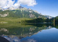 Lago Tovel, panorama Royalty Free Stock Photography