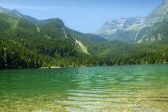 Lago Tovel Trentino Alto Adige, Itália Imagens de Stock