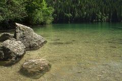 Lago Tovel Trentino Alto Adige, Itália Foto de Stock Royalty Free