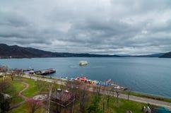 Lago Toya Foto de archivo libre de regalías