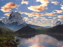Lago tranquility da costa Imagem de Stock