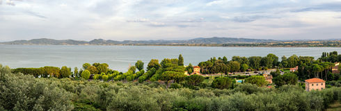 Lago Trasimeno & x28;Umbria& x29; Panorama Royalty Free Stock Images