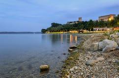 Lago Trasimeno (Umbria) Panorama at Castiglione del Lago Royalty Free Stock Photography
