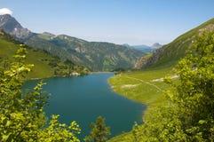 Lago Traualpsee em um dia de verão maravilhoso no austr Imagem de Stock