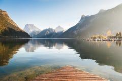 Lago Traunsee in alpi austriache Fotografia Stock
