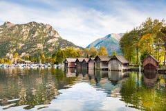 Lago Traunsee in alpi austriache Fotografie Stock