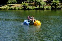 Lago Treganowan na estação da beira do lago, Melbourne, Austrália foto de stock royalty free