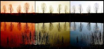 Lago triptych Imagen de archivo libre de regalías