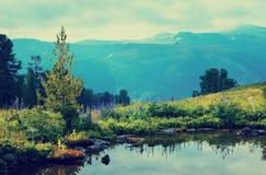 Lago triste della montagna Fotografia Stock Libera da Diritti