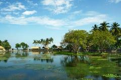 Lago tropical bonito no console de Bali Fotos de Stock