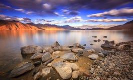 Lago Tso de Pangong Foto de Stock