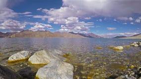 Lago tso de Pangong almacen de metraje de vídeo