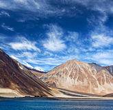Lago Tso de Pangong em Ladakh, Índia Imagem de Stock Royalty Free