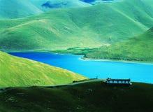Lago tso di Yamdrok Fotografie Stock Libere da Diritti