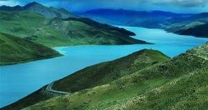Lago tso di Yamdrok Fotografia Stock