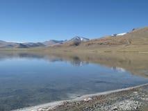 Lago tso Kar foto de archivo