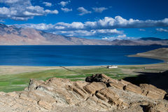 Lago Tso-Moriri Fotografia de Stock