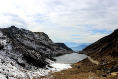 Lago Tsomgo o lago Changu di mattina Immagine Stock